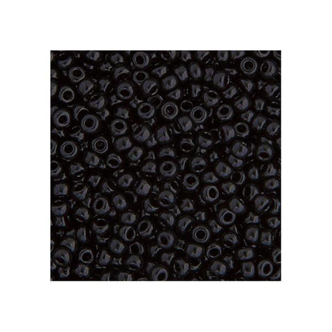15/0 Japanese Seed Beads Opaque Black 22g - i-Bead,  JAPANESE SEEDBEAD