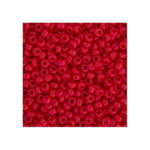 15/0 Japanese Seed Beads Opaque Red 22g - i-Bead,  JAPANESE SEEDBEAD