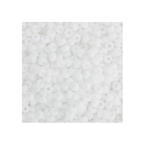 15/0 Japanese Seed Beads Opaque Matte Chalk White 22g - i-Bead,  JAPANESE SEEDBEAD
