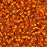 15/0 Japanese Seed Beads Silver Lined Orange 22g - i-Bead,  JAPANESE SEEDBEAD