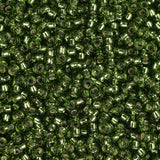 15/0 Japanese Seed Beads Silver Lined Olive 22g - i-Bead,  JAPANESE SEEDBEAD