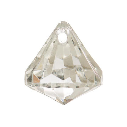 23x26mm Crystal Teardrop Pendant 5/pk