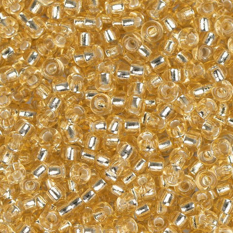 11/0 Japanese Seedbeads Silverlined Pale Gold 22g - i-Bead,  JAPANESE SEEDBEAD