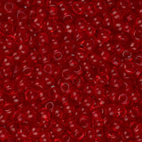 11/0 Czech Seed Beads Transparent Light Red 23g - i-Bead,  LIGHT RED