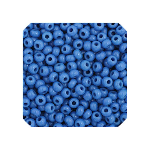 11/0 Czech Seedbeads Opaque Medium Blue 23g - i-Bead,  MEDIUM BLUE