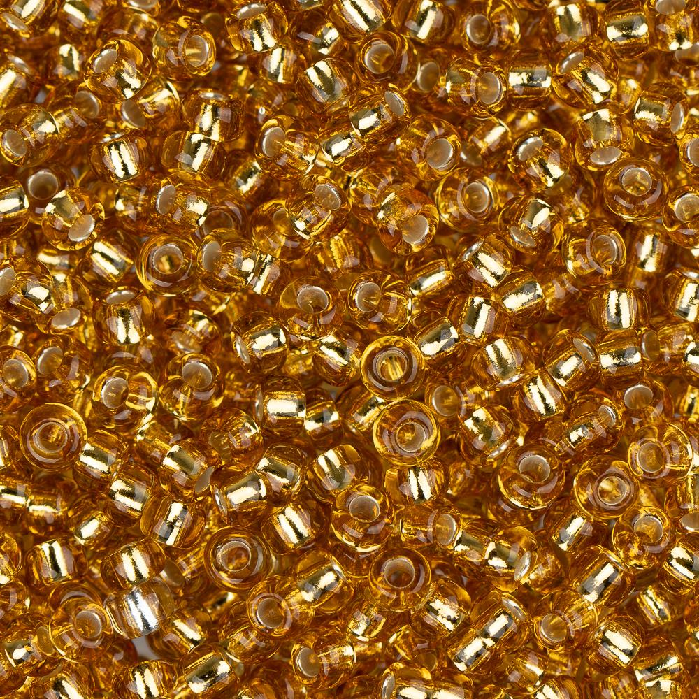 11/0 Czech Seed Beads Silver Lined Gold 23g