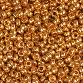11/0 Czech Seedbeads Metallic Gold 23g - i-Bead,  GOLD