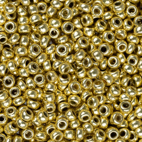 11/0 CZECH SEEDBEADS METALLIC SOLGEL LIGHT GOLD 23G - i-Bead,  LIGHT GOLD