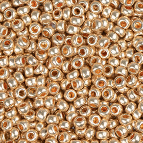 11/0 CZECH SEEDBEADS METALLIC SOLGEL DARK GOLD 23G - i-Bead,  DARK GOLD