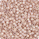 11/0 Japanese Delica Beads Opaque Pink Champagne AB 5.2g - i-Bead,  MIYUKI BEADS