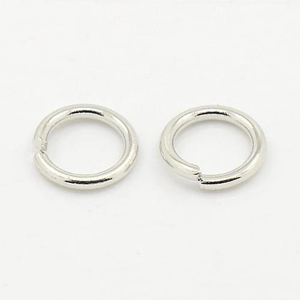 10mm Nickel Jump Rings 25/pk