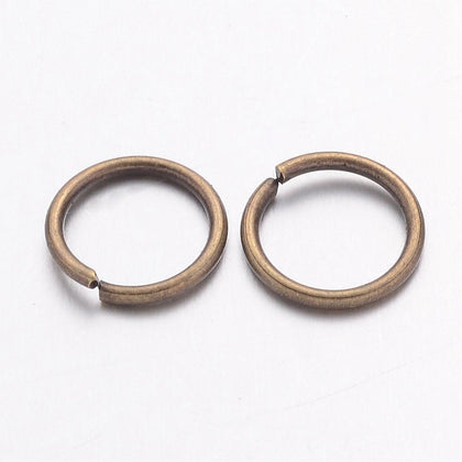 10mm Antique Brass Jump Rings 25/pk