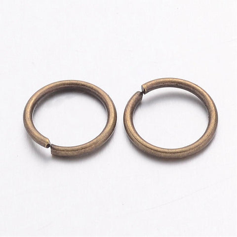 10MM ANTIQUE BRASS JUMP RINGS 25/PK - i-Bead,  ANTIQUE BRASS