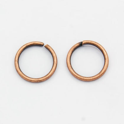 10mm Antique Copper Jump Rings 25/pk