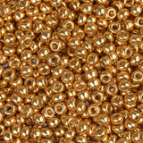 11/0 JAPANESE SEEDBEADS DURACOAT GALVANIZED YELLOW GOLD 22G - i-Bead,  JAPANESE SEEDBEAD