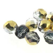 4mm Crystal Aurum Firepolished Facetted Beads 38/Strand