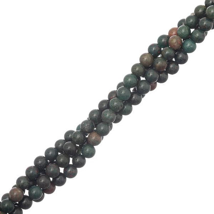 4-5mm Bloodstone African (Natural) Beads 15-16
