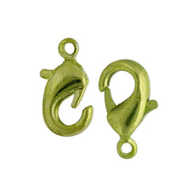 12.5MM LOBSTER CLASP LIME GREEN 20/PK - i-Bead,  LIME GREEN