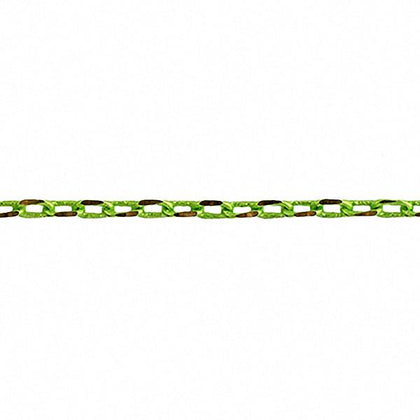 2x3.5mm Lime Green Cut Link Chain 2m
