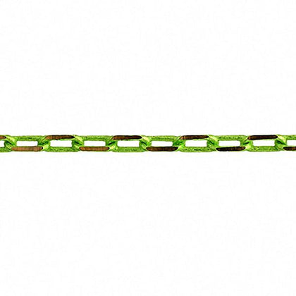 3x5mm Lime Green Cut Link Chain 2m