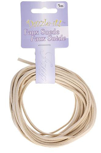 Faux Suede Ivory Lacing 5m