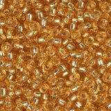 11/0 Japanese Seedbeads Silverlined Dark Gold 22g - i-Bead,  JAPANESE SEEDBEAD