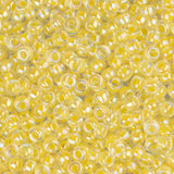 11/0 Japanese Seed Beads Pale Yellow Lined 22g