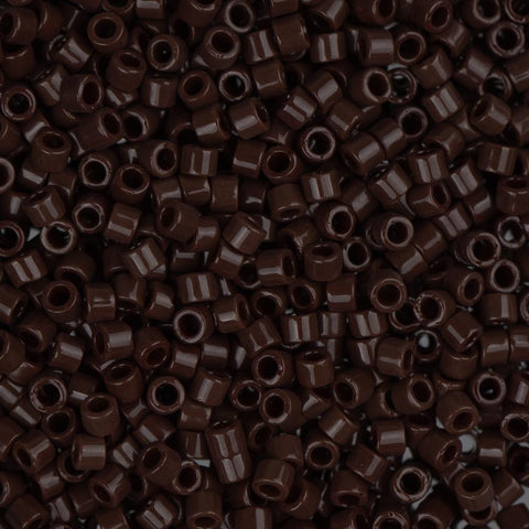 11/0 Opaque Chocolate Brown Japanese Delica Beads 50g - i-Bead,  MIYUKI BEADS