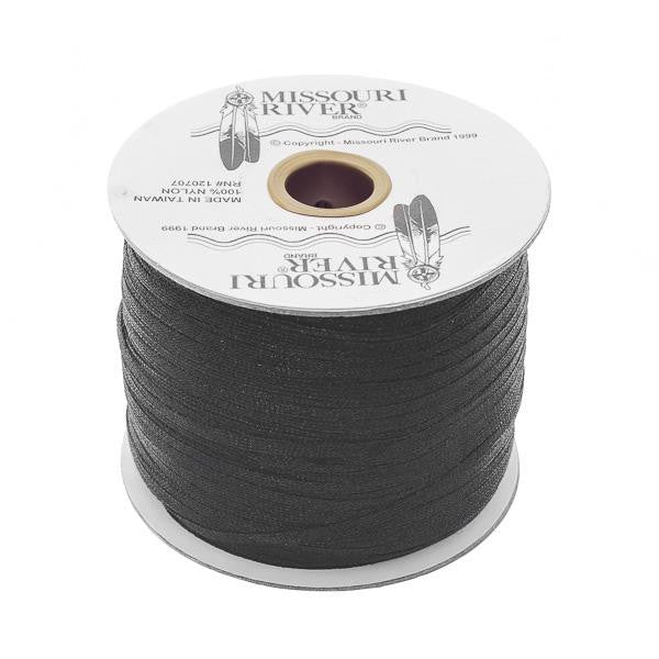 Flat Black Shawl Fringe 244yd Spool