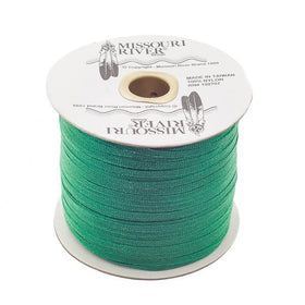 Flat Emerald Green Shawl Fringe 244yd Spool