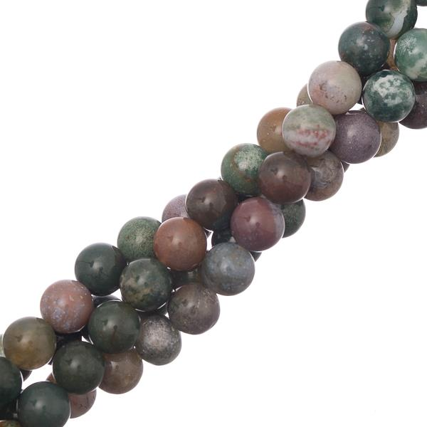 "8mm Agate Indian (Natural) Beads 15-16"" Strand"