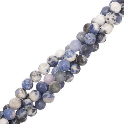 6mm round sodalite gemstone beads