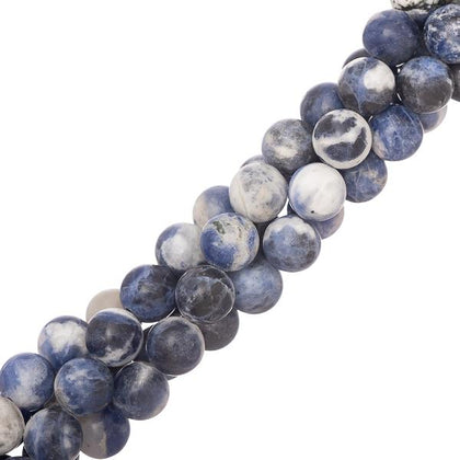 8mm round Sodalite Gemstone Beads
