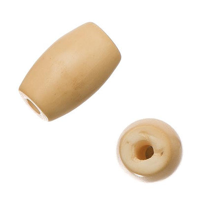 1/2 inch Tea Dyed Hairbone Pipe Beads 10/pk