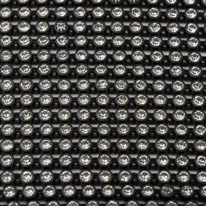 Plastic 2.4mm Black Rhinestone Banding by the Yard