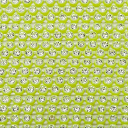 Plastic 2.4mm Neon Yellow Rhinestone Banding by the Yard