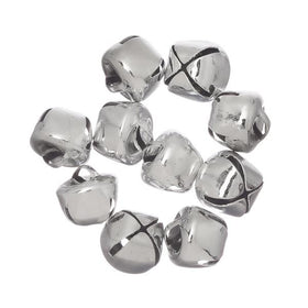 "1/2"" Silver Jingle Bells 15/pk - i-Bead,  BELLS"