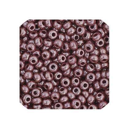 11/0 Czech Seed Beads Opaque Brown Luster 23g
