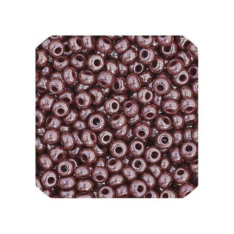 11/0 Czech Seed Beads Opaque Brown Luster 23g - i-Bead,  BROWN