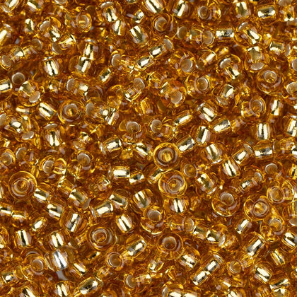 11/0 Czech Seed Beads Silver Lined Gold 250g