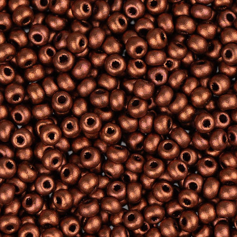 11/0 Czech Seed Beads Metallic Copper 250g - i-Bead,  COPPER