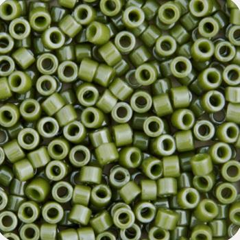 11/0 Japanese Delica Beads Opaque Pale Green Lime Glazed Luster 5.2g - i-Bead,  MIYUKI BEADS