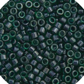 11/0 Japanese Delica Beads Green Teal Lined 5.2g - i-Bead,  MIYUKI BEADS