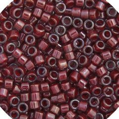 11/0 Japanese Delica Beads Dark Crystal Red Lined 5.2g