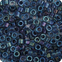 11/0 Japanese Delica Beads Aqua Grey Lined 5.2g