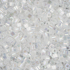 11/0 Japanese Delica Beads Crystal AB Silk Satin 5.2g