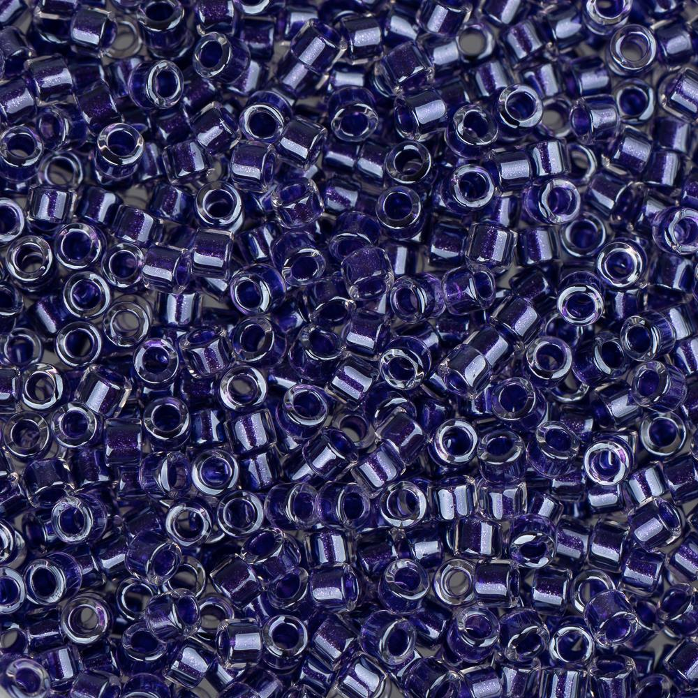 11/0 Delica Bead #0923 Amethyst Sparkle Crystal Lined 5.2g