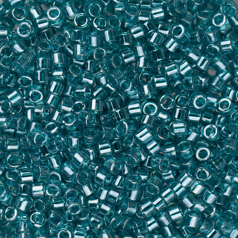 11/0 Delica Bead #1228 Teal Caribbean Transparent Luster 5.2g