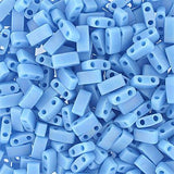 5x2.3mm Japanese Half Tila Beads Op Matte Lt Blue AB 5.2g