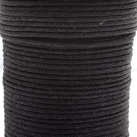 1mm Black Waxed Cotton Cord 25m/spool